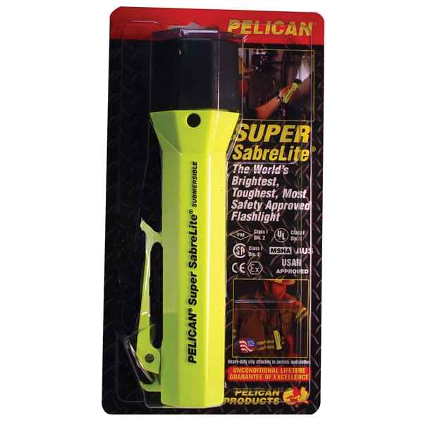 Pelican Products SabreLite Laserspot, 3C, Yellow, Clam Packed
