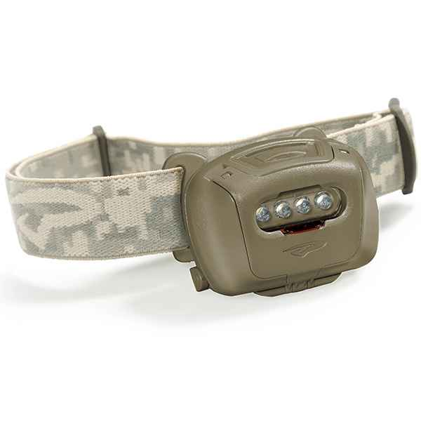 Princeton Tec Quad Tactical Headlamp, Olive Drab, 60 lm, w/Red/Blue LED