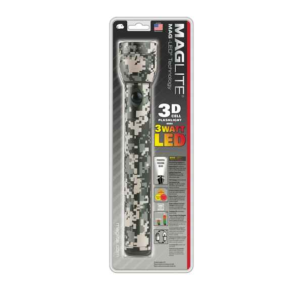 MagLite 3 D Cell LED Flashlight, Digital Camo