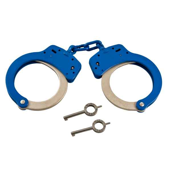 Smith & Wesson Model 100 Handcuff, Weather Shield, Blue