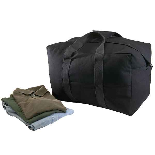 Texsport Canvas Parachute Bag, Black