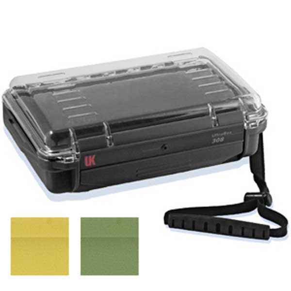 Underwater Kinetics UK 308 UltraBox, Clear View, Lid Pouch, Padded Liner, Black