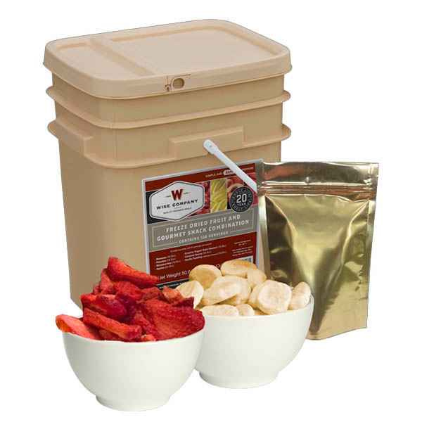 Wise Company 120 Serving Freeze Dried Fruit & Gourmet Snack Combo