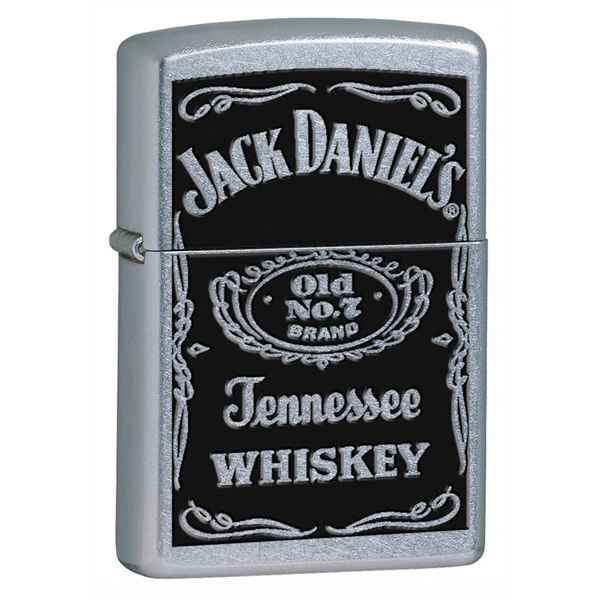 Zippo Street Chrome, Black Jack Daniel's Logo, Tennessee Whiskey