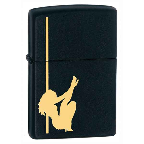 Zippo Black Matte, Girl Stripper Pole Dancing