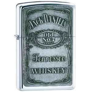 Zippo High Polish Chrome, Jack Daniel's Label Emblem