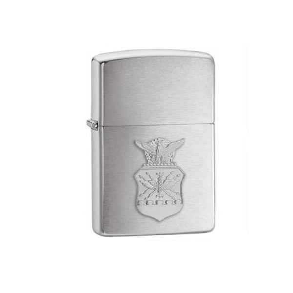 Zippo Brushed Chrome, US Air Force Crest Emblem