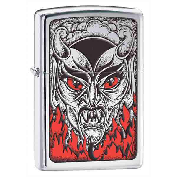 Zippo High Polish Chrome, Devil