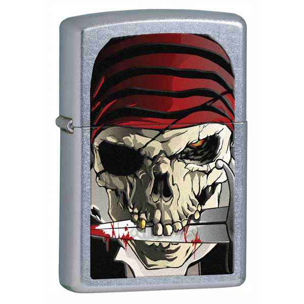 Zippo Street Chrome, Skeleton Pirate