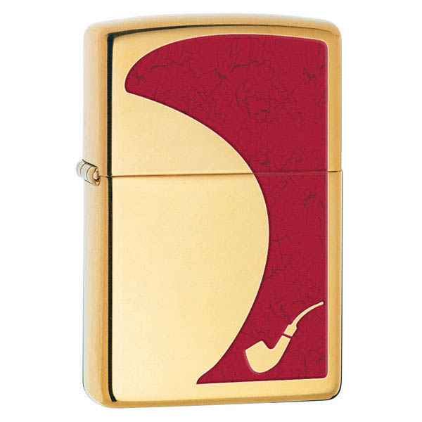 Zippo High Polished Brass, Pipe