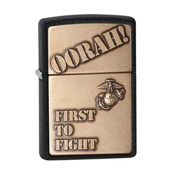 Zippo Black Crackle, First to Flight Emblem