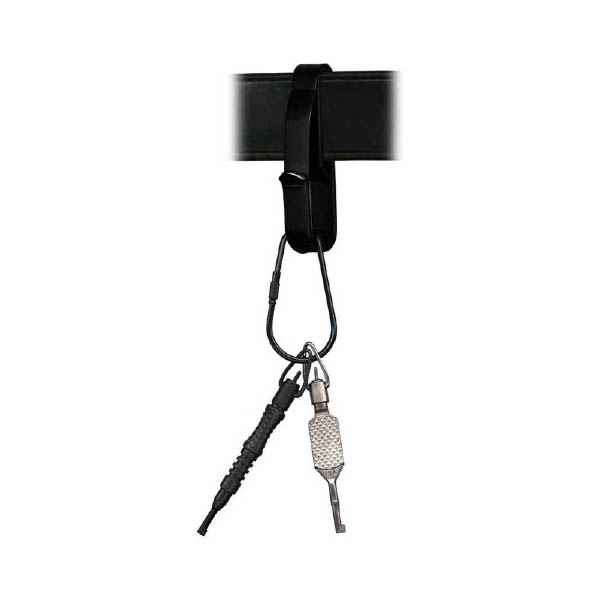 Zak Tools Key Ring Holder, Fits 1.75 in. Wide Belt, Black