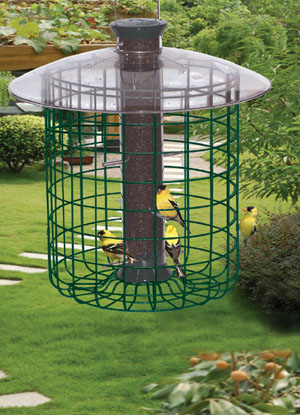 Squirrel Proof Sunflower Domed Cage Shelter Bird Feeder American Made