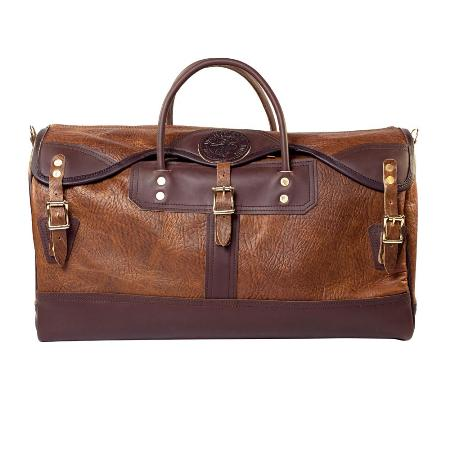 Bison Leather Sportsmans Duffel Made in USA