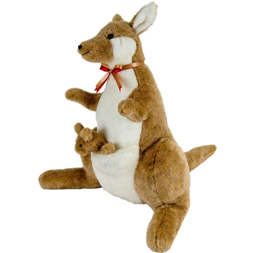 Kangaroo & Joey Stuffed Animal Toy Made in USA