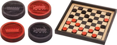 Maple Landmark Checkers - Premium  Checkers Set - American Made