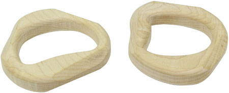 Maple Landmark Pair of Natural Unfinished Teethers