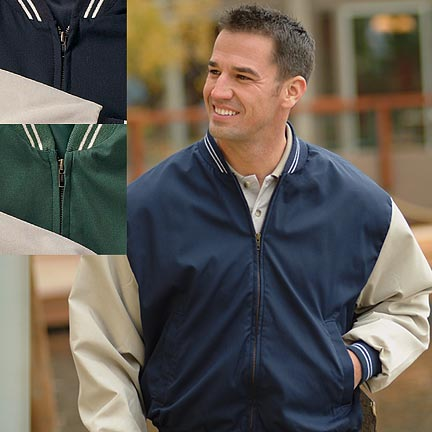 Men's Poplin Baseball Jacket - Fenway - American Made