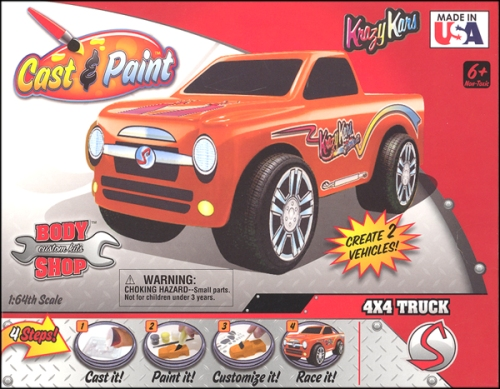 Cast and Paint Krazy Kars Trucks - Made in USA