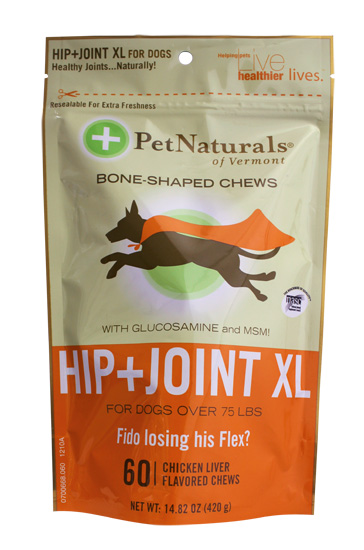 Hip and Joint XL Chews for Dogs Over 75 lbs Chicken Liver Made in USA - 60 Chewables