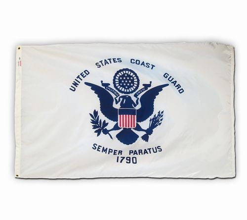 Spectrapro Spun Polyester Coast Guard Flag  4x6 USA Made