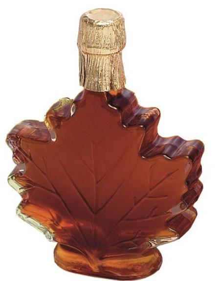 American Made Pure Maple Syrup in Maple Leaf Bottle  - Set of 2
