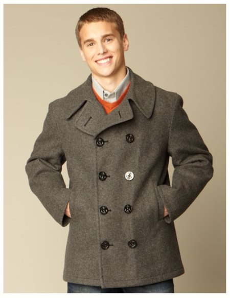 "Classic Peacoat - American Made  - <FONT FACE=""Times New Roman"" SIZE=""+1"" COLOR=""#FF0000""> On Sale Now! </font>-"