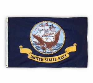 Spectrapro Spun Polyester Navy Flag - American Made