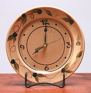 Ceramic Clock Made in America - Tuscon Olive