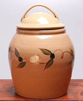 Cookie Jar Made in USA - Tuscon Olive