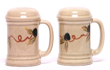 Handpainted Tuscon Olive Handled Salt and Pepper Shaker Set Made in America