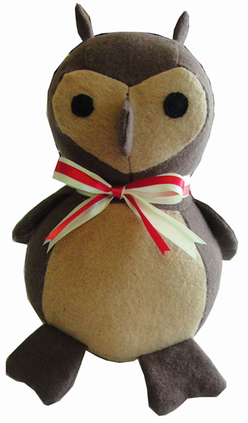 Organic Stuffed Owl Made in USA