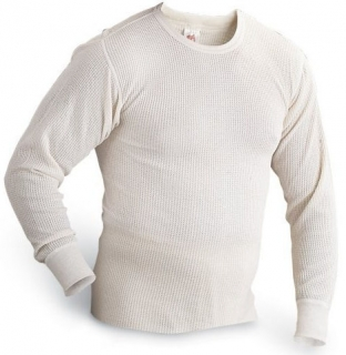 Big & Tall Long Sleeve Thermal Crew Neck Shirt Made in USA
