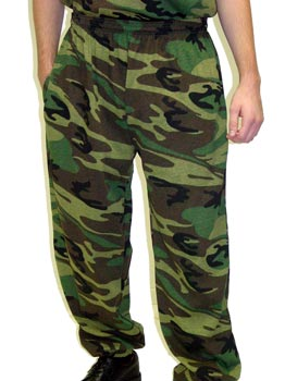 Camo Gym Pants Made in USA
