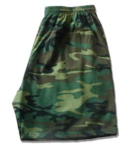 Camoflage Gym Shorts Made in USA