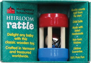 Maple Landmark Rattles - Mini Bell Rattle Made in USA