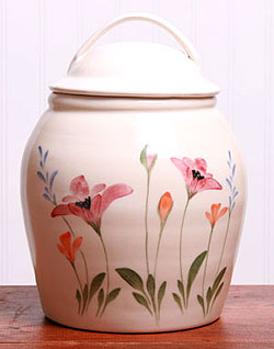 American Made Cookie Jar - Red Poppy