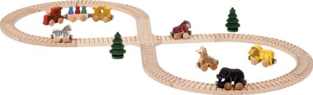 Maple Landmark Train Set - Safari Set  Made in USA