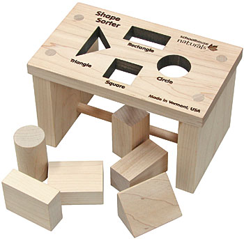 Maple landmark Shape Sorter Mini Bench