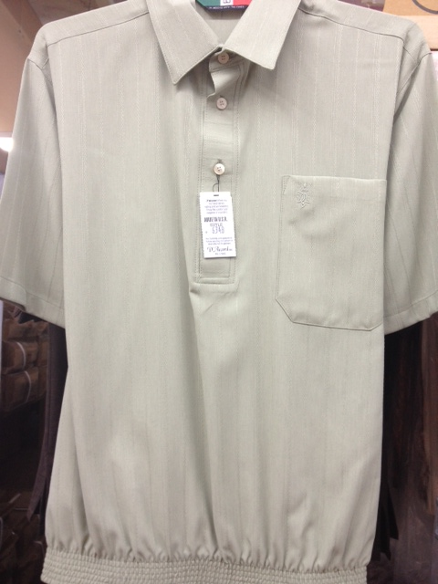 Banded Bottom Shirt Made in USA - Sage Color