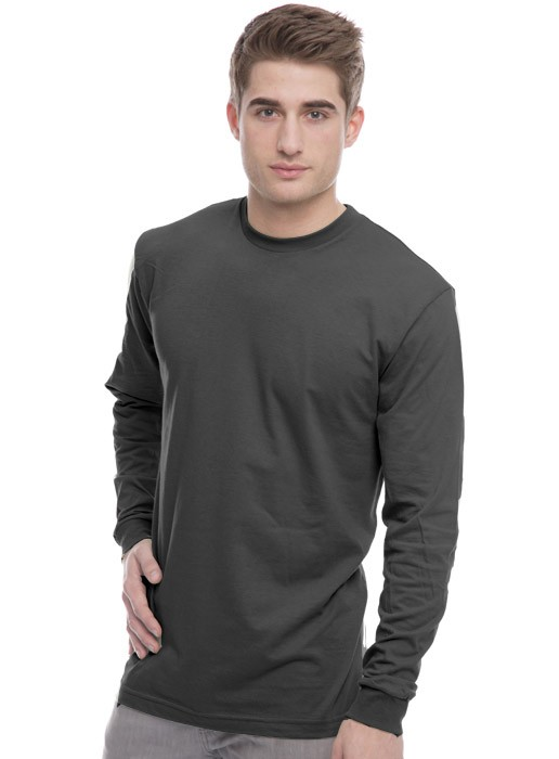 Men's Organic Crew Long Sleeve Tee Shirt Made in USA