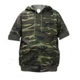 Short Sleeve Camouflage Sweatshirt Made in USA
