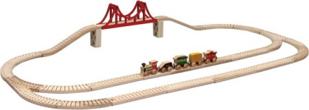 Maple Landmark Skyline Train Set - American Made
