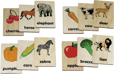 Teach+Play Tiles American Made, Animal/Vegetable