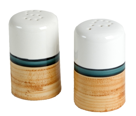 Terra Patina Salt and Pepper Shakers Made in USA