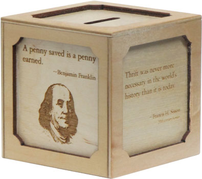 Maple Landmark Thifty Coin Bank American Made