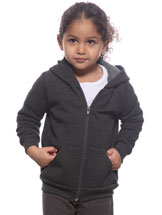 Child's Full Zip Hooded Sweatshirt Made in USA