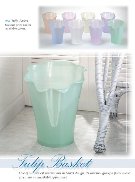 Tulip Wastebasket Made in USA