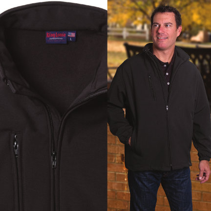"Men's Soft Shell Jacket Made in USA <FONT FACE=""Times New Roman"" SIZE=""+1"" COLOR=""#FF0000""> On Sale Now! </font>-"