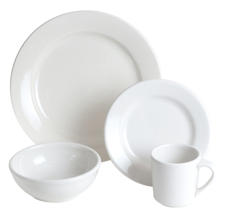 Classic White 24-Piece Place Setting for 6